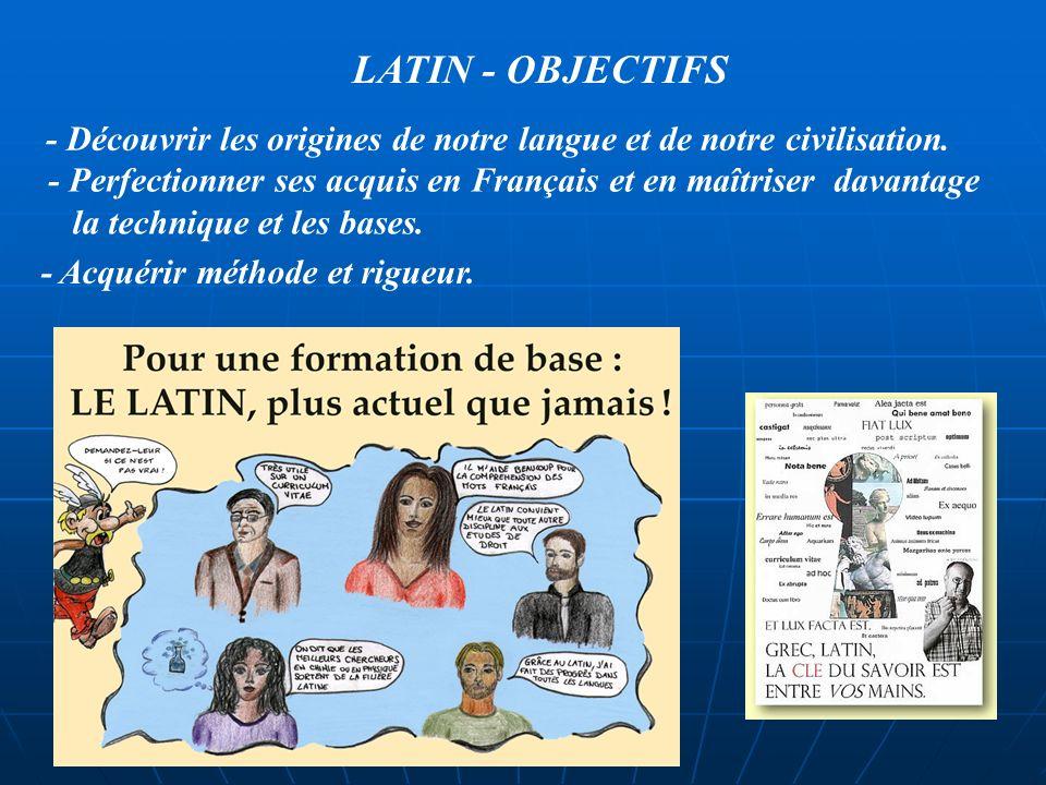 Le choix du Latin nest pas réservé à un profil d élève particulier. LATIN