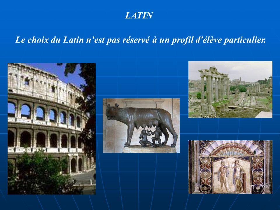 Il faut juste être curieux, motivé et ne pas se sentir débordé LATIN Un citoyen romain Une maison romaine dans son travail scolaire.