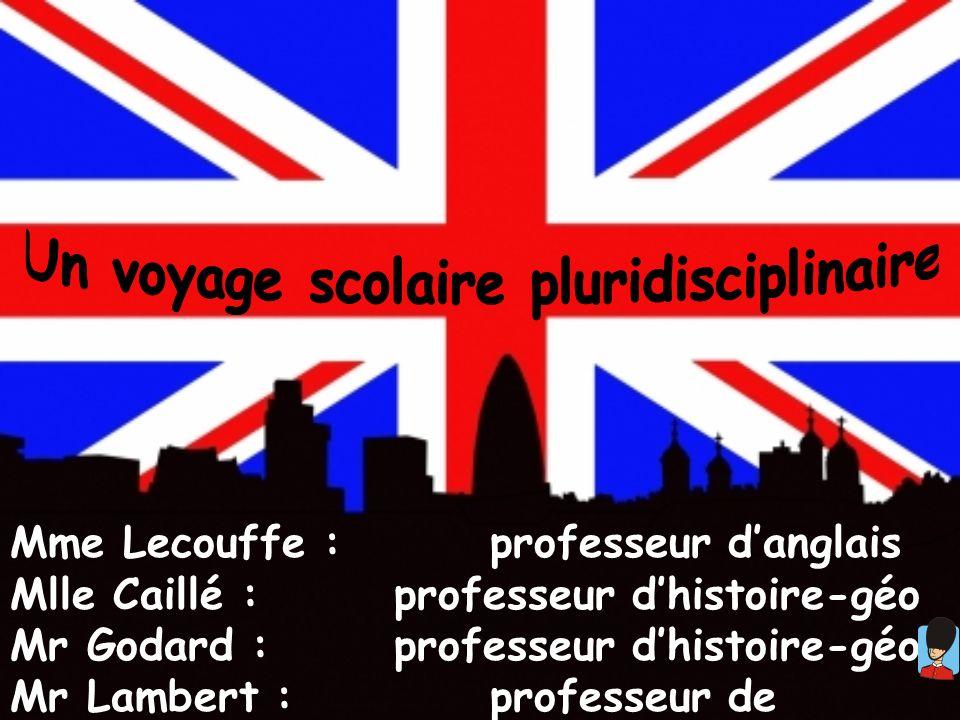 Mme Lecouffe :professeur danglais Mlle Caillé : professeur dhistoire-géo Mr Godard : professeur dhistoire-géo Mr Lambert : professeur de physique - ch