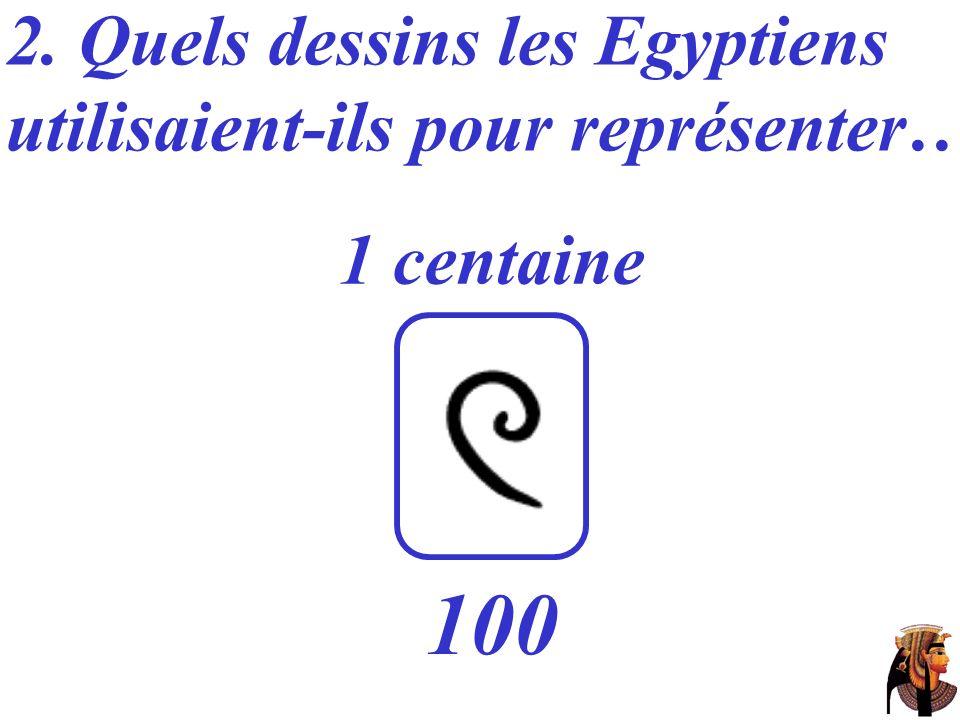 2. Quels dessins les Egyptiens utilisaient-ils pour représenter… 1 centaine 100