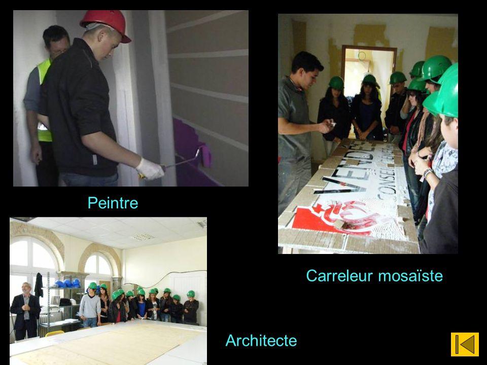 Architecte Carreleur mosaïste Peintre