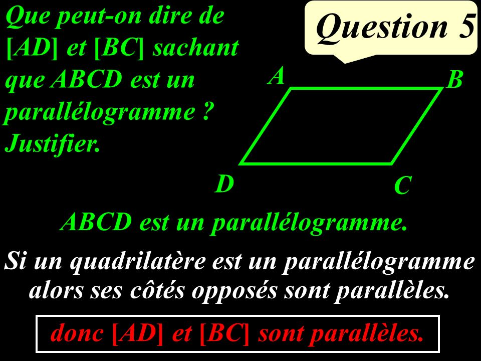 Question 4 EFG est rectangle en E.