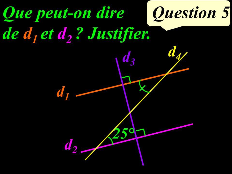 Question 4 Calculer 2² + 5².