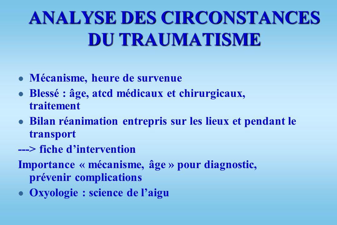 TRAUMATISMES THORACIQUES l Etude séméiologique: –Clinique –Facteurs de gravité –Bilan lésionnel l Conduite à tenir devant traumatisme grave du thorax: