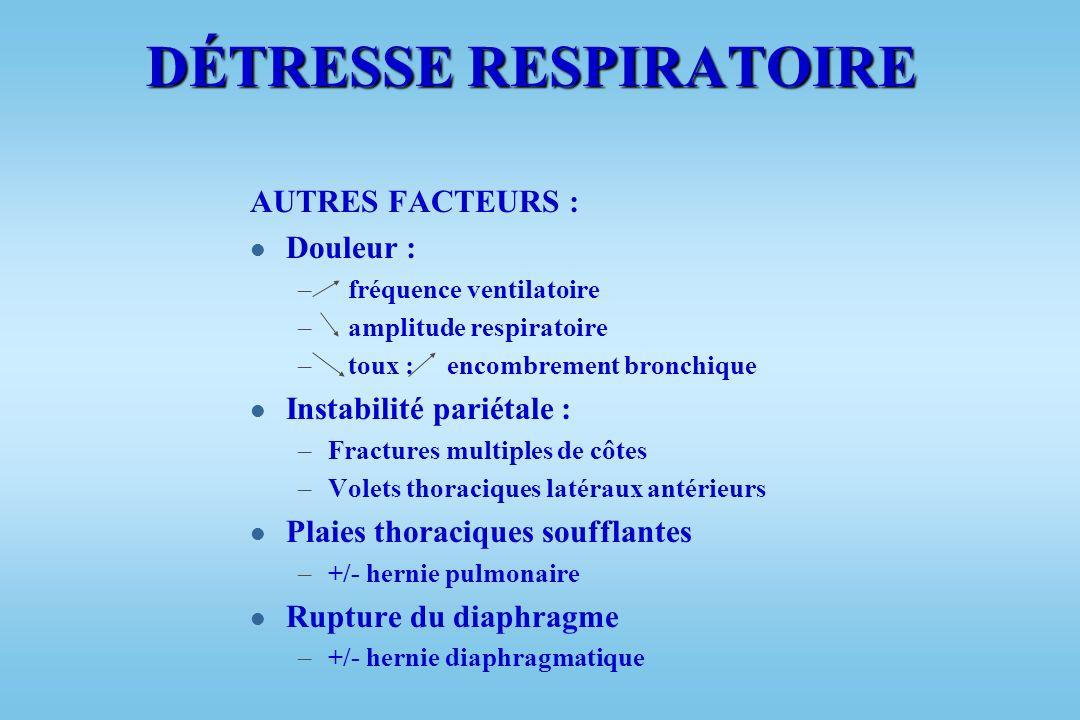 CONCLUSIONS PHYSIOPATHOLOGIQUES l Importance interaction Dysfonction respiratoire et circulatoire dans genèse SDRA et SRIS l Augmentation si troubles