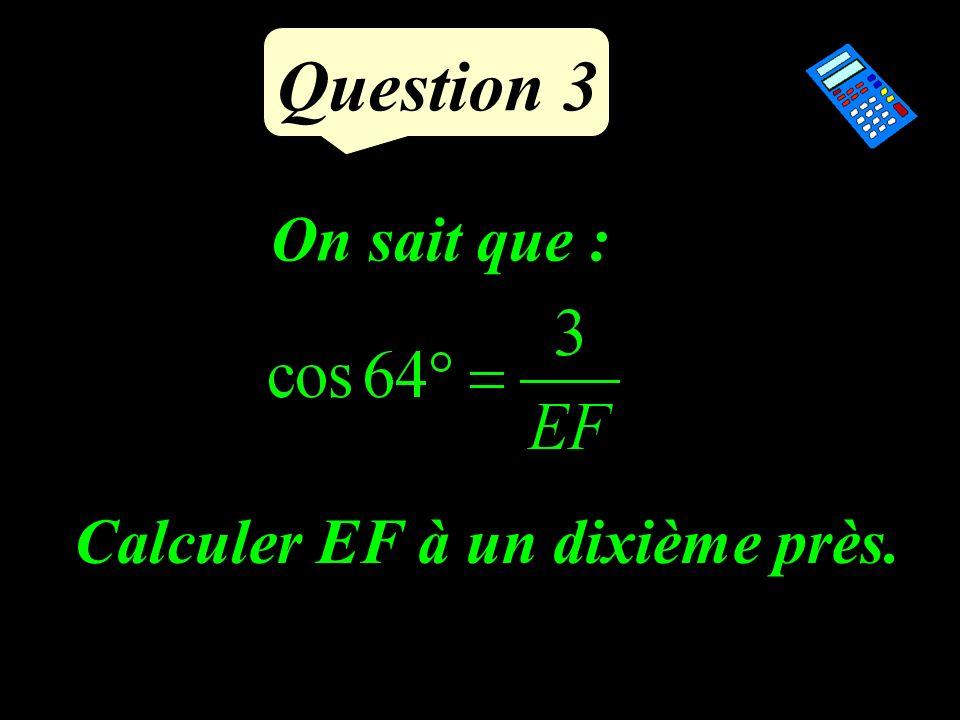 Question 2 Ecrire sous la forme a n :