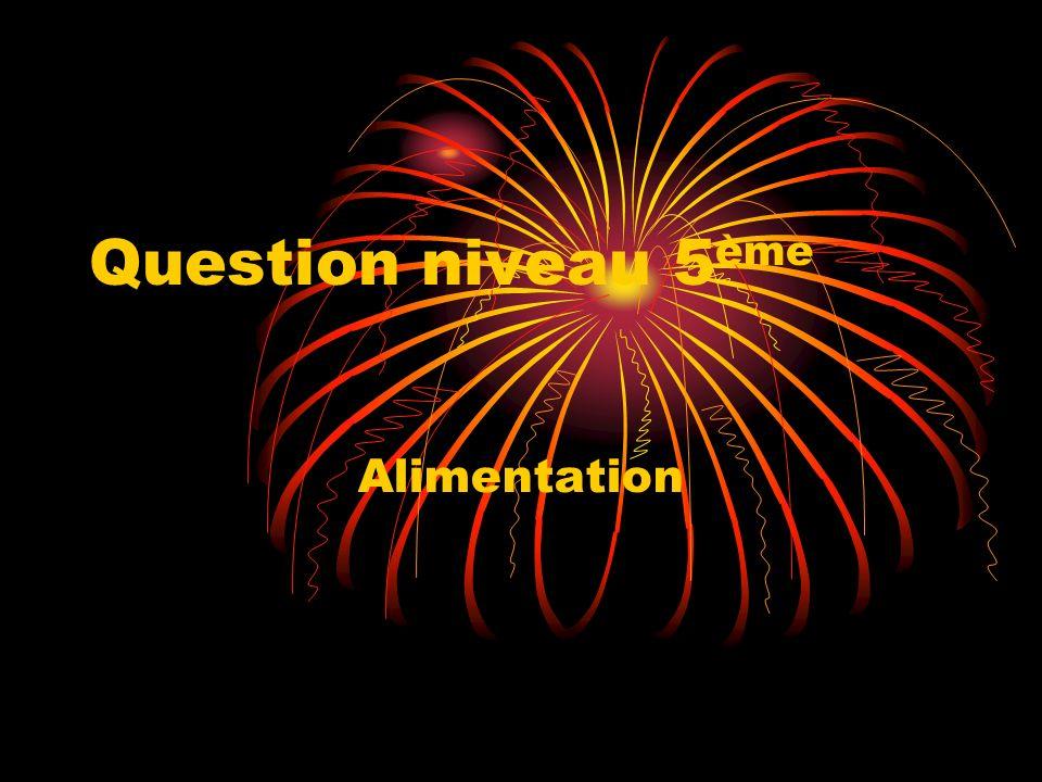 Question niveau 5 ème Alimentation