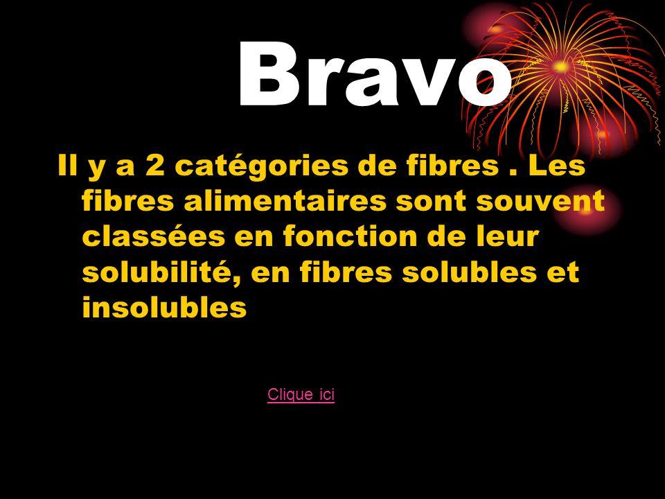 Bravo Il y a 2 catégories de fibres.