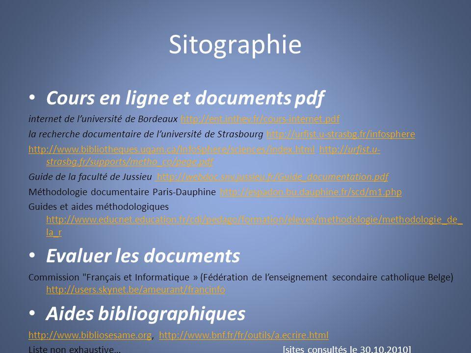 Sitographie Cours en ligne et documents pdf internet de luniversité de Bordeaux http://ent.inthev.fr/cours-internet.pdfhttp://ent.inthev.fr/cours-inte
