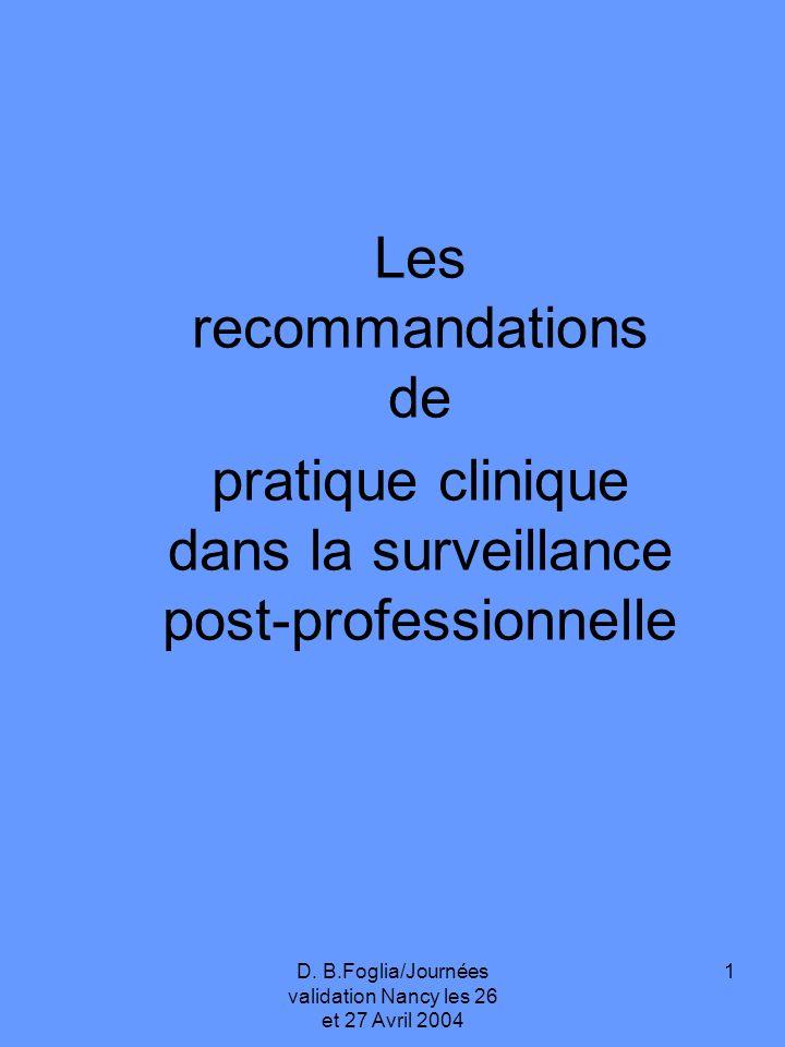 2 La connaissance des relations entre exposition professionnelle et cancers est le préalable indispensable à la mise en place dune surveillance adéquate