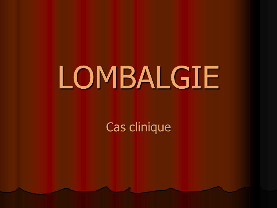 LOMBALGIE Cas clinique