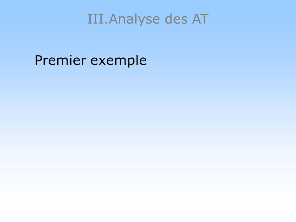 III.Analyse des AT