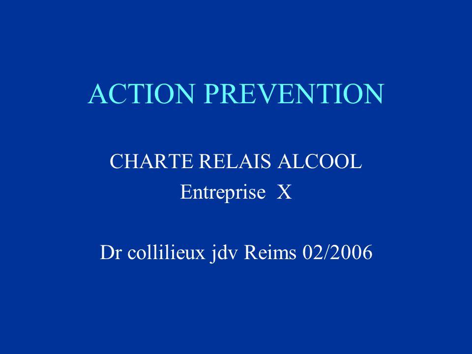 ACTION PREVENTION CHARTE RELAIS ALCOOL Entreprise X Dr collilieux jdv Reims 02/2006