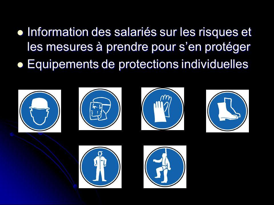 Information des salariés sur les risques et les mesures à prendre pour sen protéger Information des salariés sur les risques et les mesures à prendre