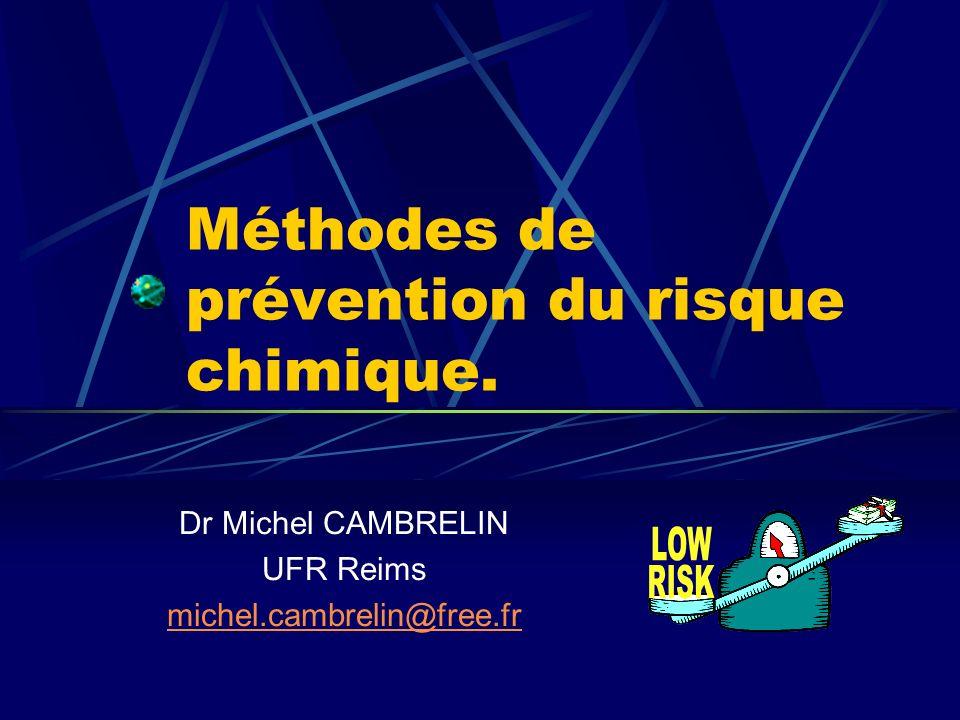 Introduction : 3 catégories de dangers : Dangers physico-chimiques Dangers physiologiques Dangers pour lenvironnement