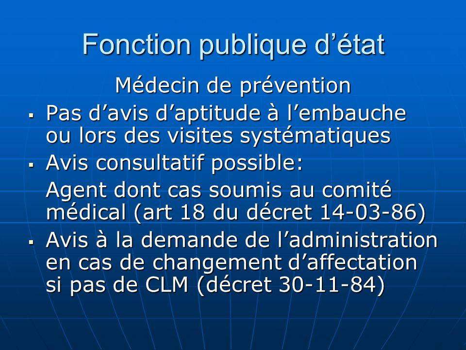 Fonction publique détat Médecin de prévention Pas davis daptitude à lembauche ou lors des visites systématiques Pas davis daptitude à lembauche ou lor