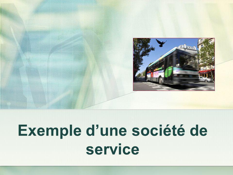 Exemple dune société de service