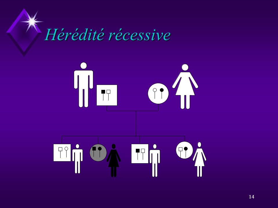 14 Hérédité récessive