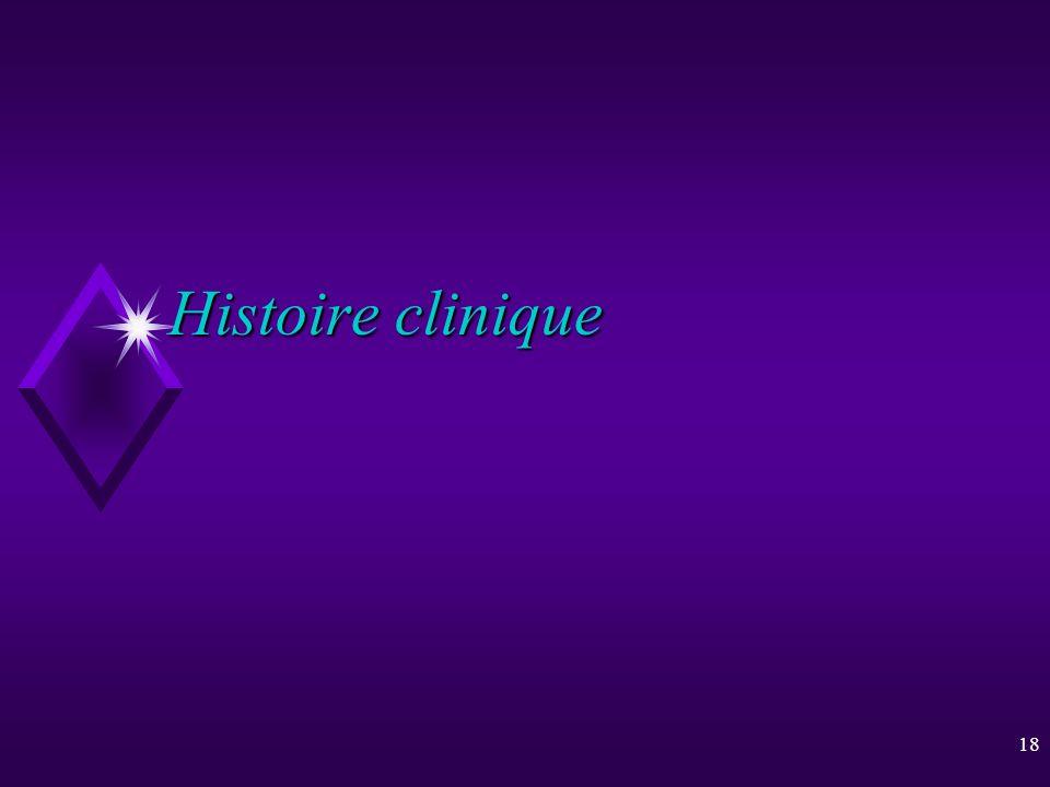 18 Histoire clinique