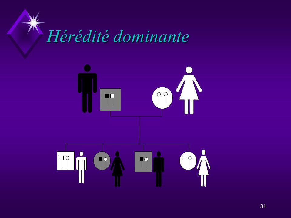 31 Hérédité dominante