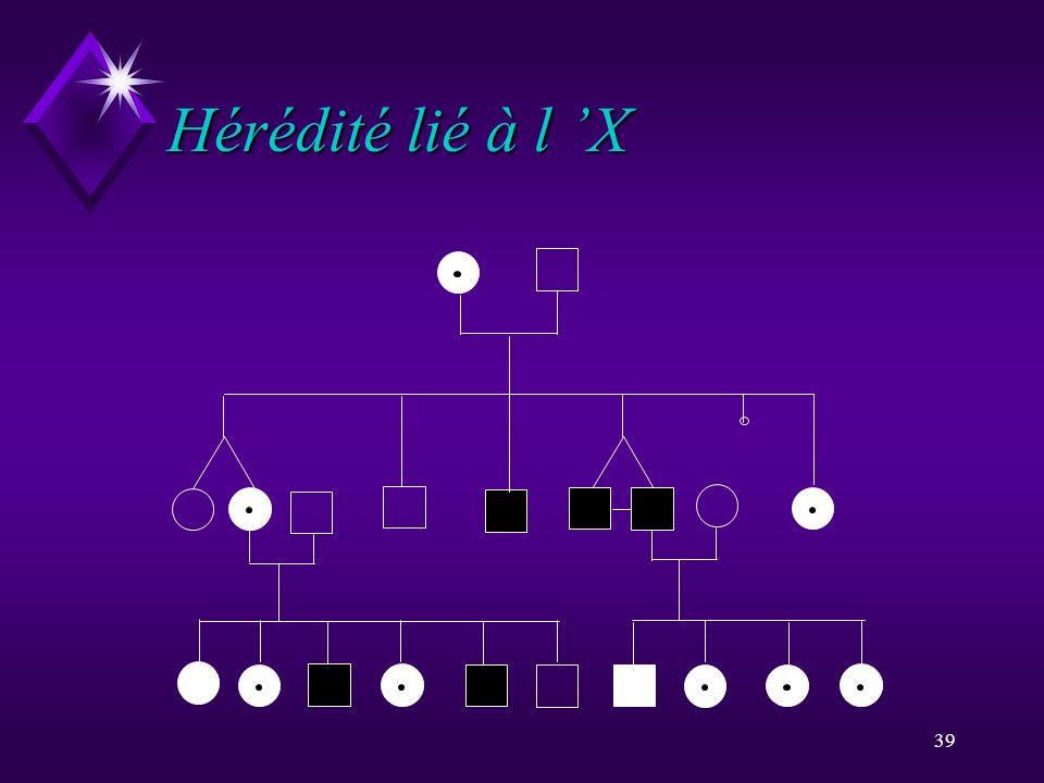 39 Hérédité lié à l X
