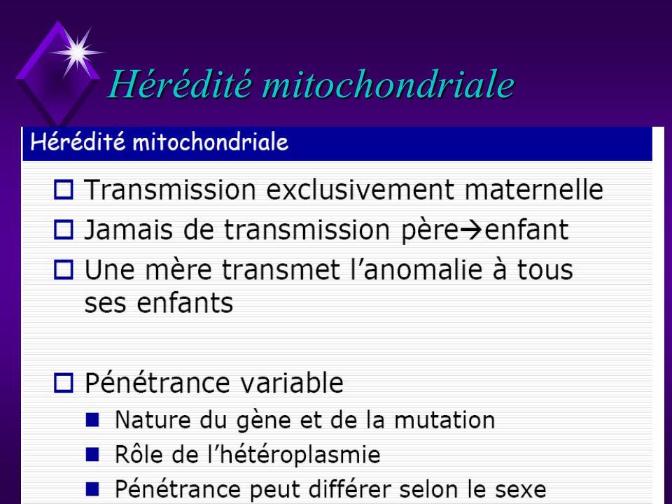 77 Hérédité mitochondriale