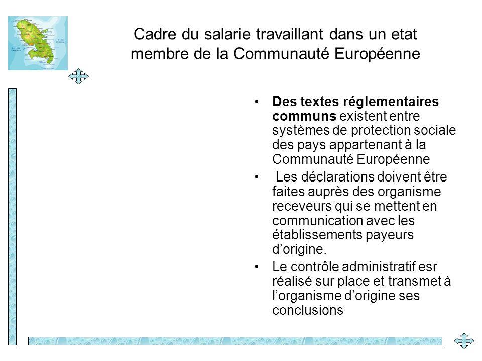 Des textes réglementaires communs existent entre systèmes de protection sociale des pays appartenant à la Communauté Européenne Les déclarations doive