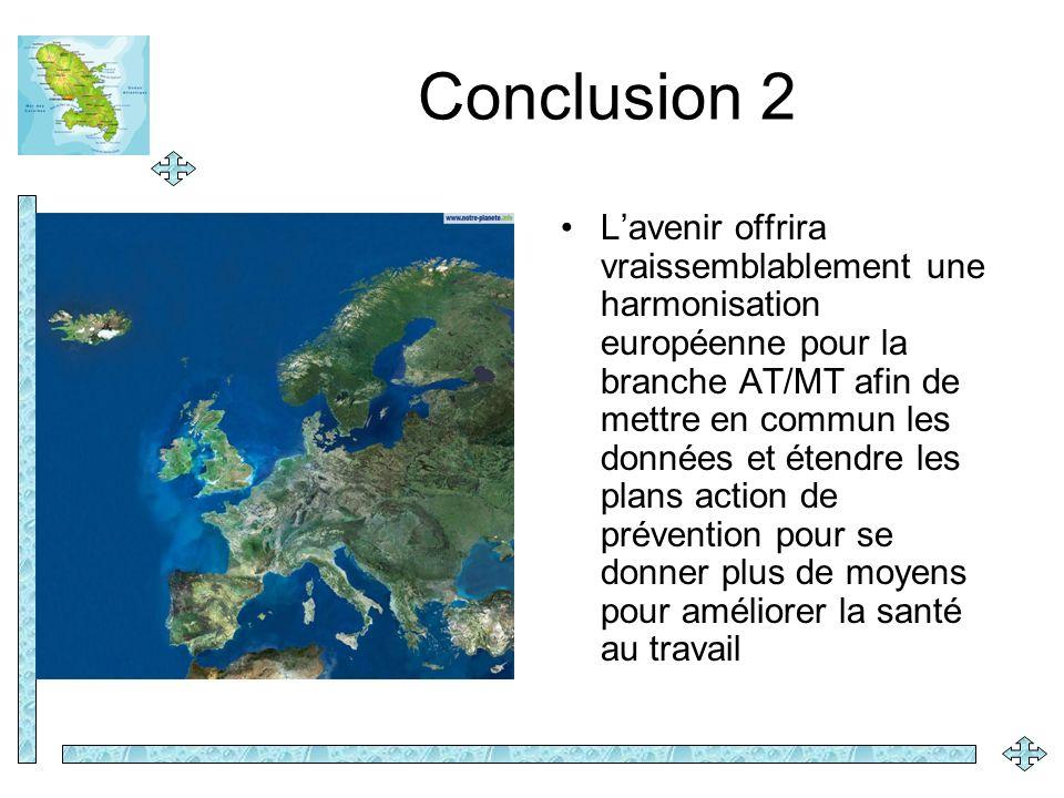 Conclusion 2 Lavenir offrira vraissemblablement une harmonisation européenne pour la branche AT/MT afin de mettre en commun les données et étendre les