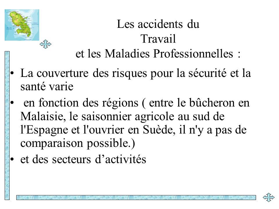 Les accidents du Travail et les Maladies Professionnelles : La couverture des risques pour la sécurité et la santé varie en fonction des régions ( ent