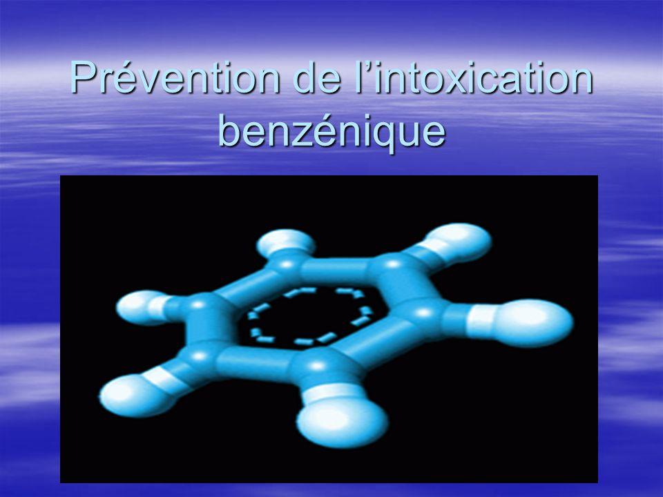 Prévention de lintoxication benzénique