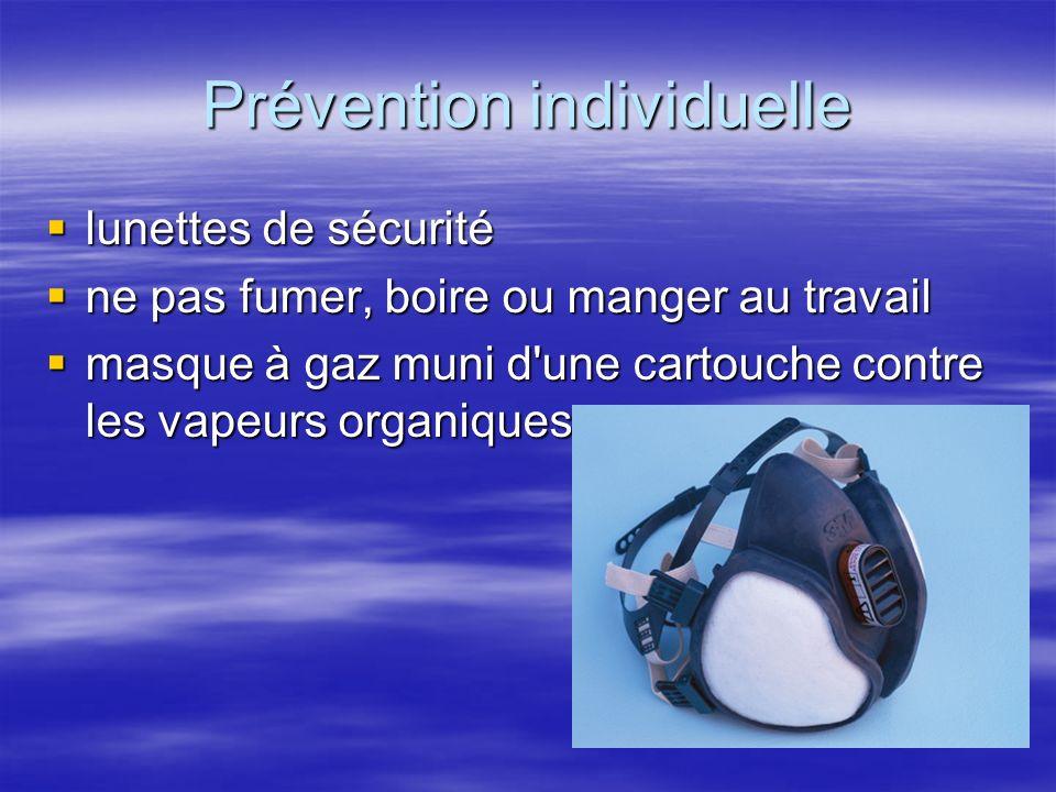 Prévention individuelle lunettes de sécurité lunettes de sécurité ne pas fumer, boire ou manger au travail ne pas fumer, boire ou manger au travail ma