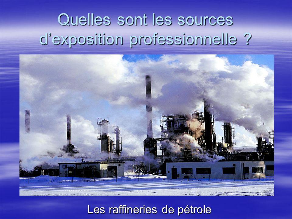 Les raffineries de pétrole