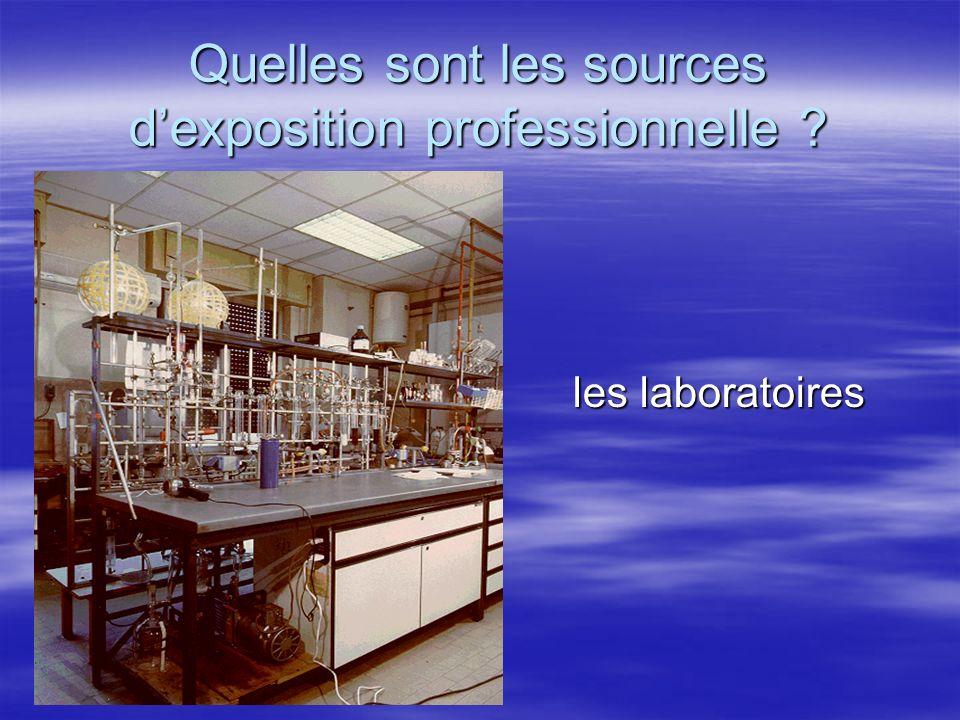Quelles sont les sources dexposition professionnelle ? les laboratoires les laboratoires