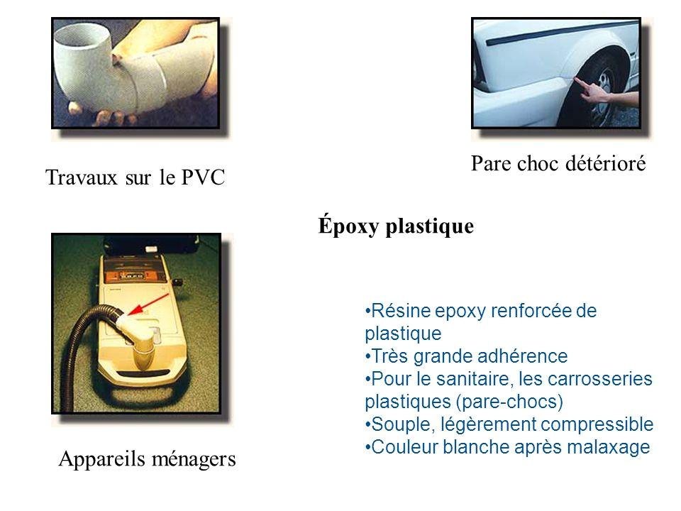 Travaux sur le PVC Pare choc détérioré Appareils ménagers Résine epoxy renforcée de plastique Très grande adhérence Pour le sanitaire, les carrosserie