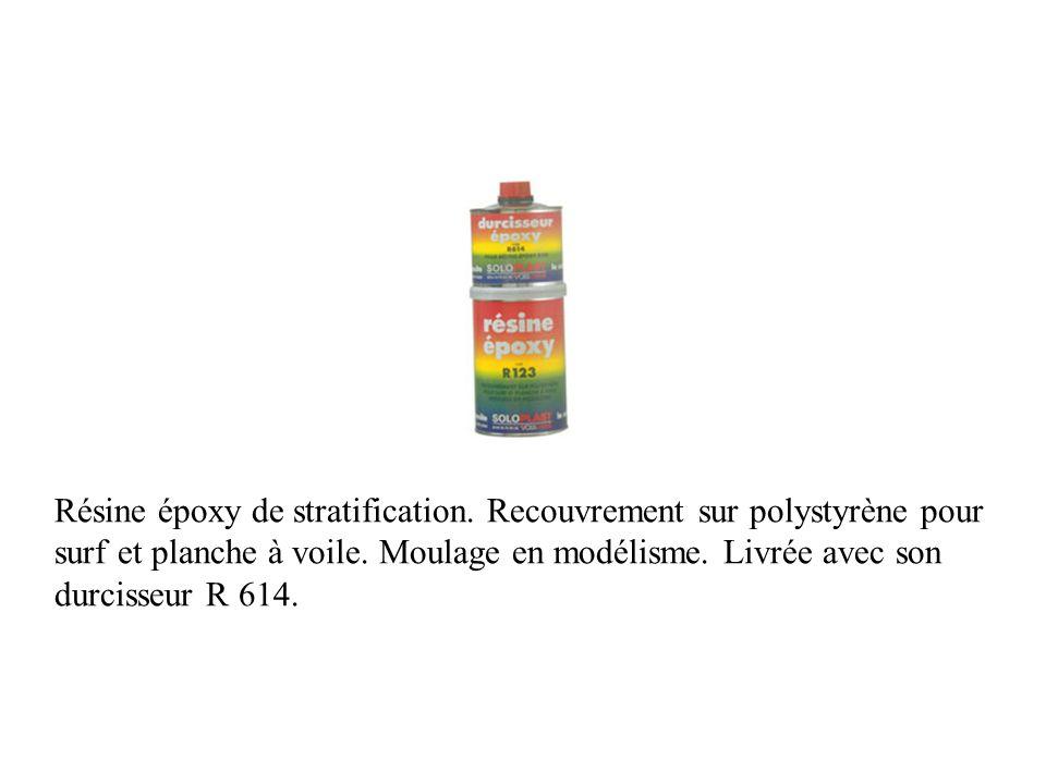 Résine époxy de stratification. Recouvrement sur polystyrène pour surf et planche à voile. Moulage en modélisme. Livrée avec son durcisseur R 614.