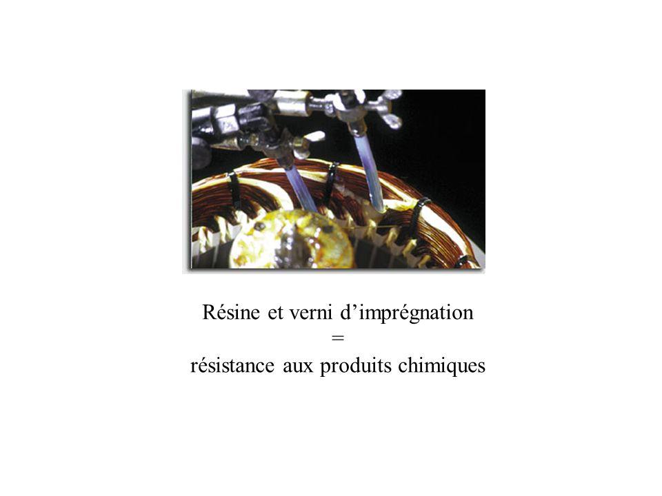 Résine et verni dimprégnation = résistance aux produits chimiques