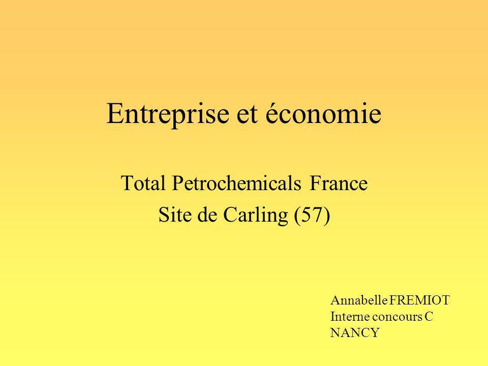 Entreprise et économie Total Petrochemicals France Site de Carling (57) Annabelle FREMIOT Interne concours C NANCY
