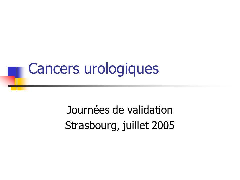 Cancers urologiques Journées de validation Strasbourg, juillet 2005