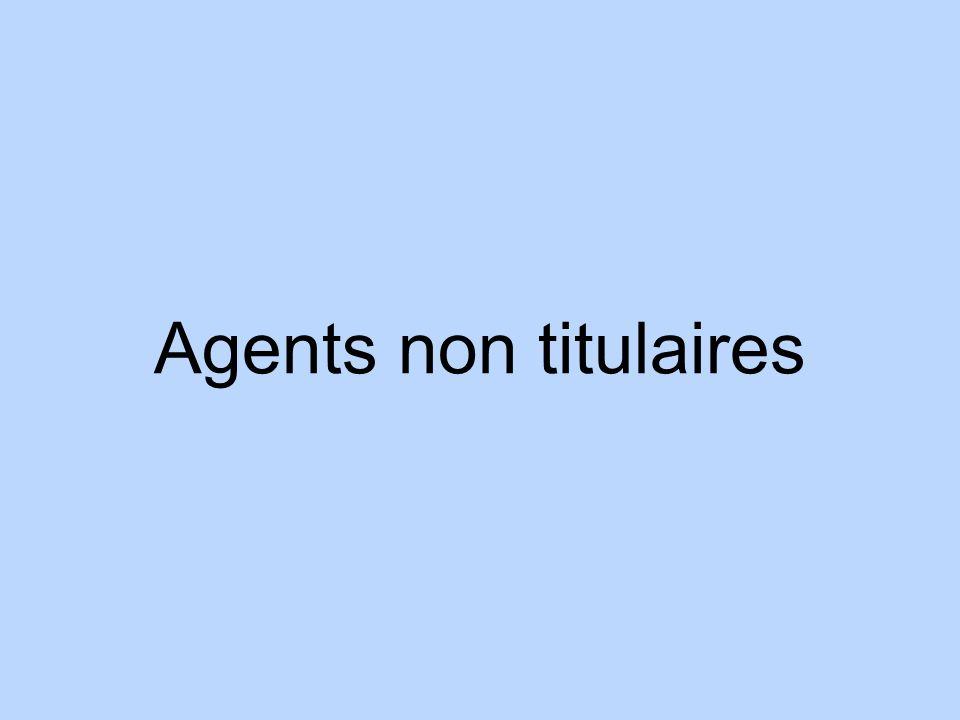 Agents non titulaires