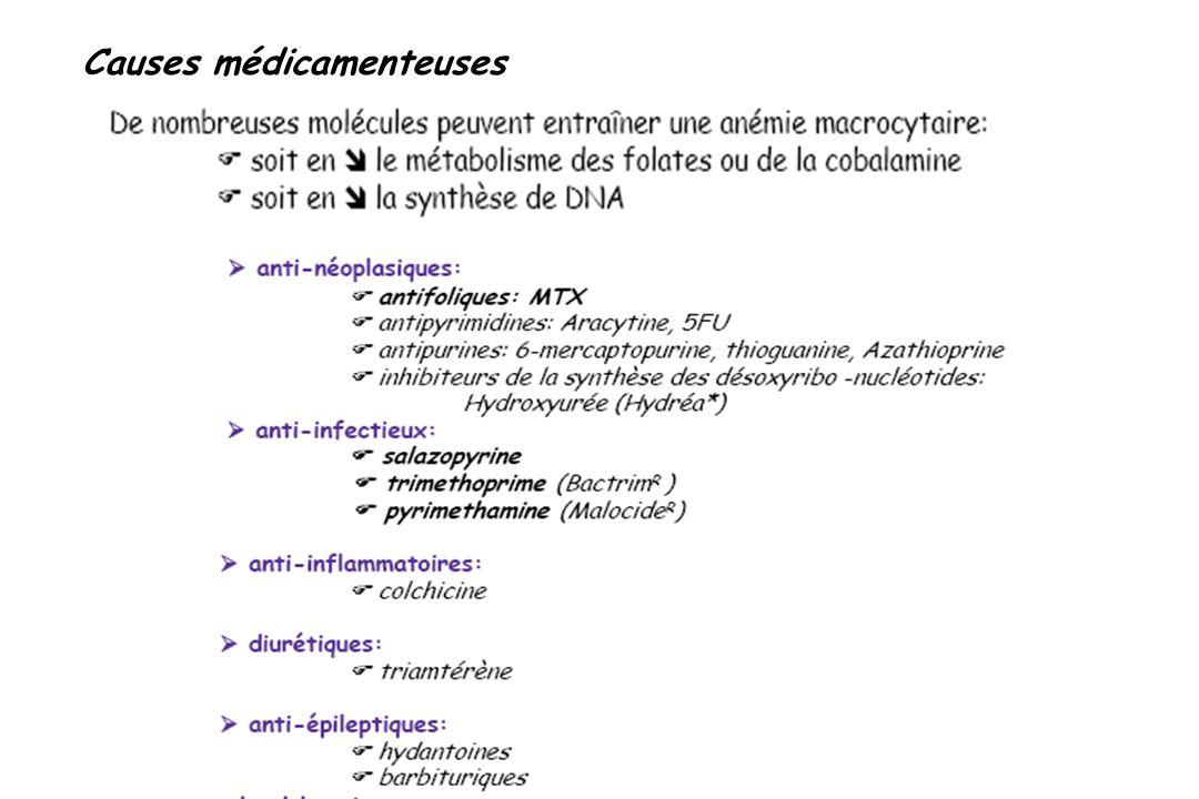 Causes médicamenteuses