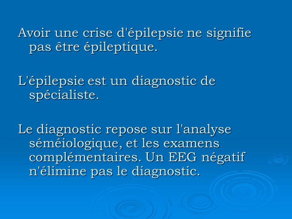 L épilepsie est liée à une désorganisation paroxystique de l activité des neurones cérébraux.