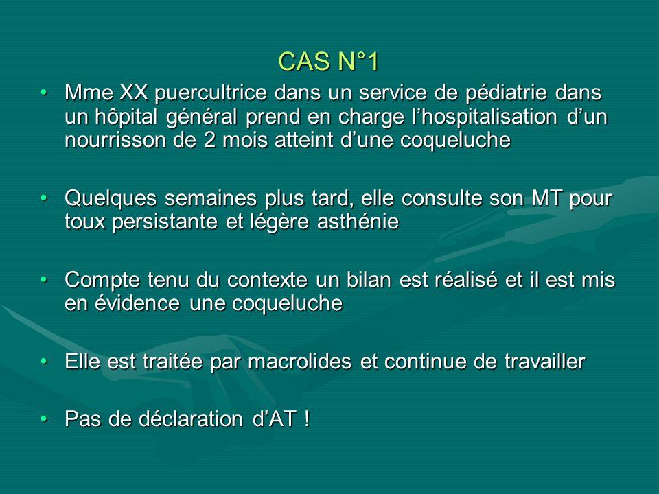 CAS N°1 Mme XX puercultrice dans un service de pédiatrie dans un hôpital général prend en charge lhospitalisation dun nourrisson de 2 mois atteint dun