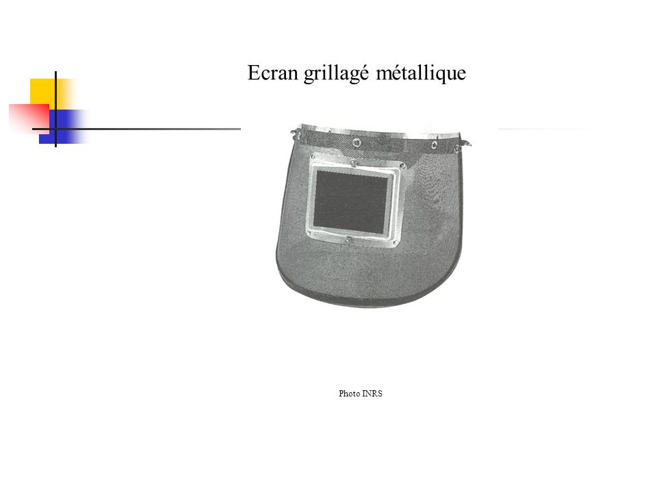 Ecran grillagé métallique Photo INRS