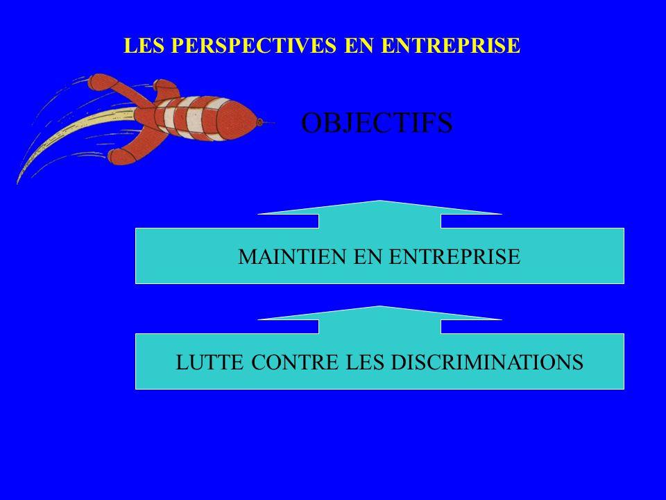 LES PERSPECTIVES EN ENTREPRISE PERSPE CTIVES_ 1 OBJECTIFS MAINTIEN EN ENTREPRISE LUTTE CONTRE LES DISCRIMINATIONS
