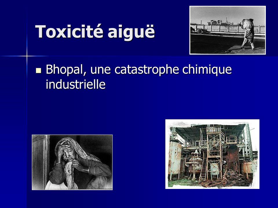 Toxicité aiguë Bhopal, une catastrophe chimique industrielle Bhopal, une catastrophe chimique industrielle