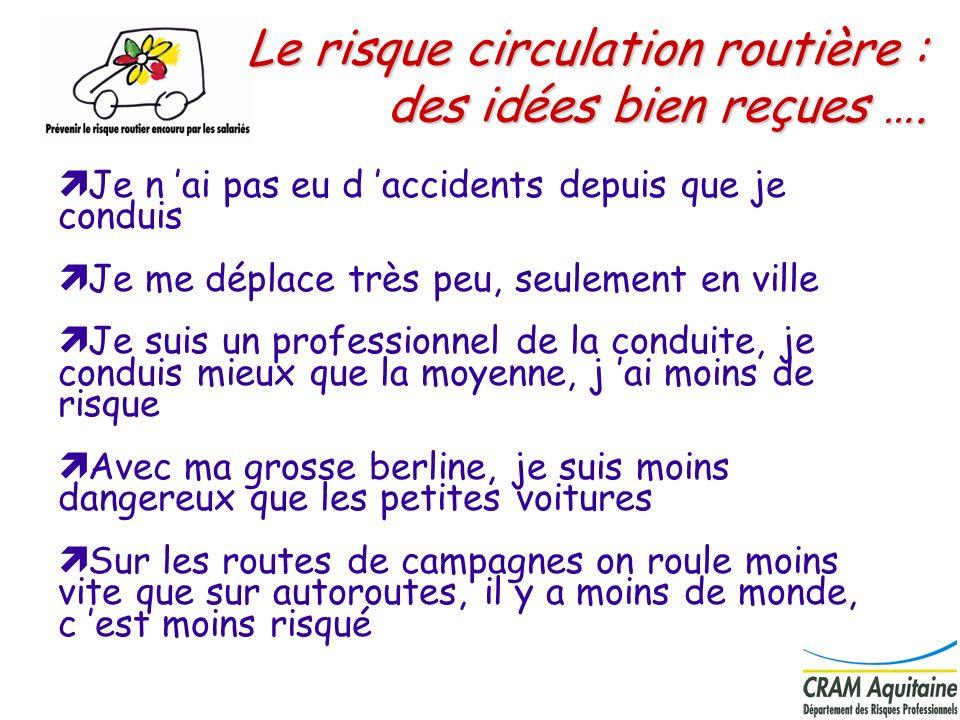 14 Région Aquitaine mission et trajet (Régime général) de 2000 à 2003 Accidents de la route lors du travail et lors du trajet domicile/travail –4 692 accidents avec arrêts en moyenne / an –44 accidents mortels du travail ( 66 %) 31 morts en trajet 13 morts en mission