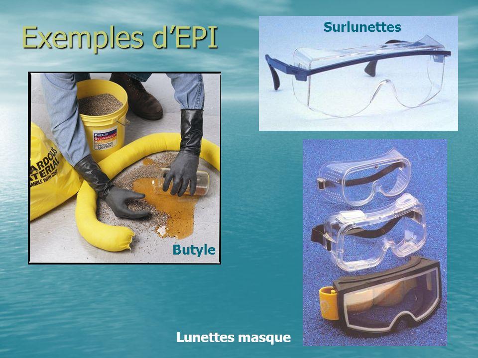 Exemples dEPI Butyle Surlunettes Lunettes masque
