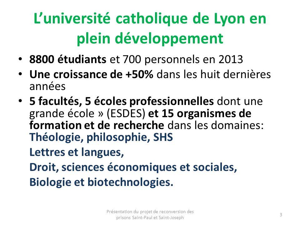 Luniversité catholique de Lyon en plein développement 8800 étudiants et 700 personnels en 2013 Une croissance de +50% dans les huit dernières années 5