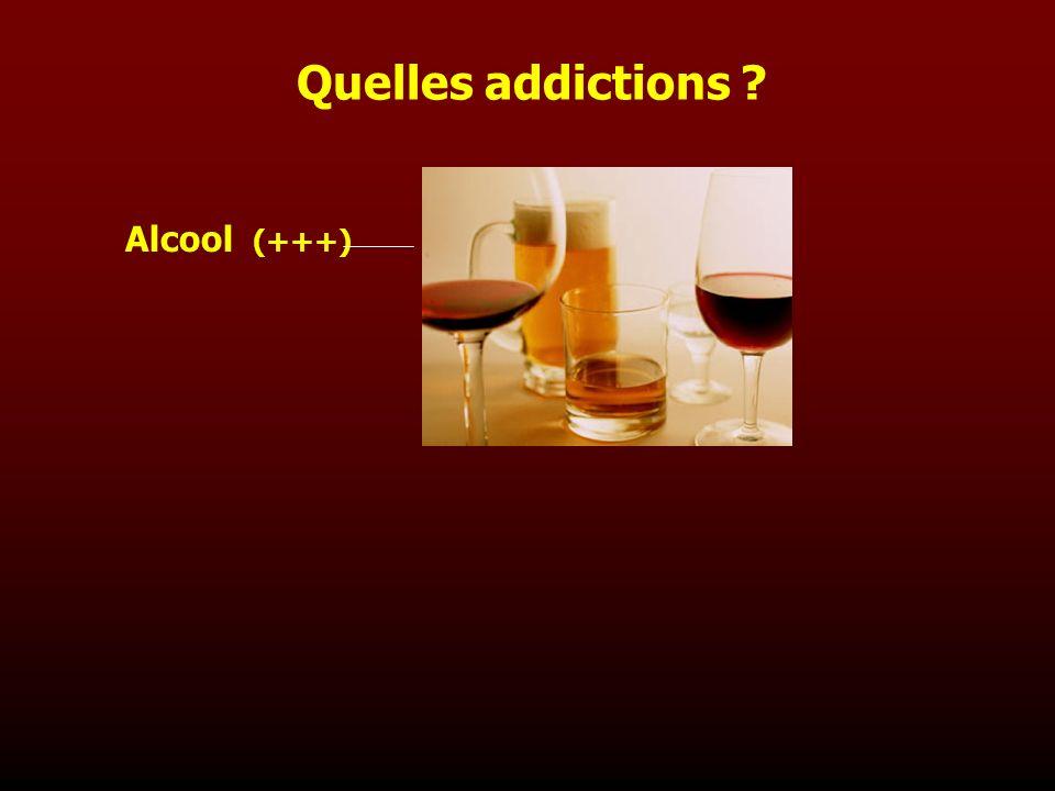 Alcool (+++) Quelles addictions ?