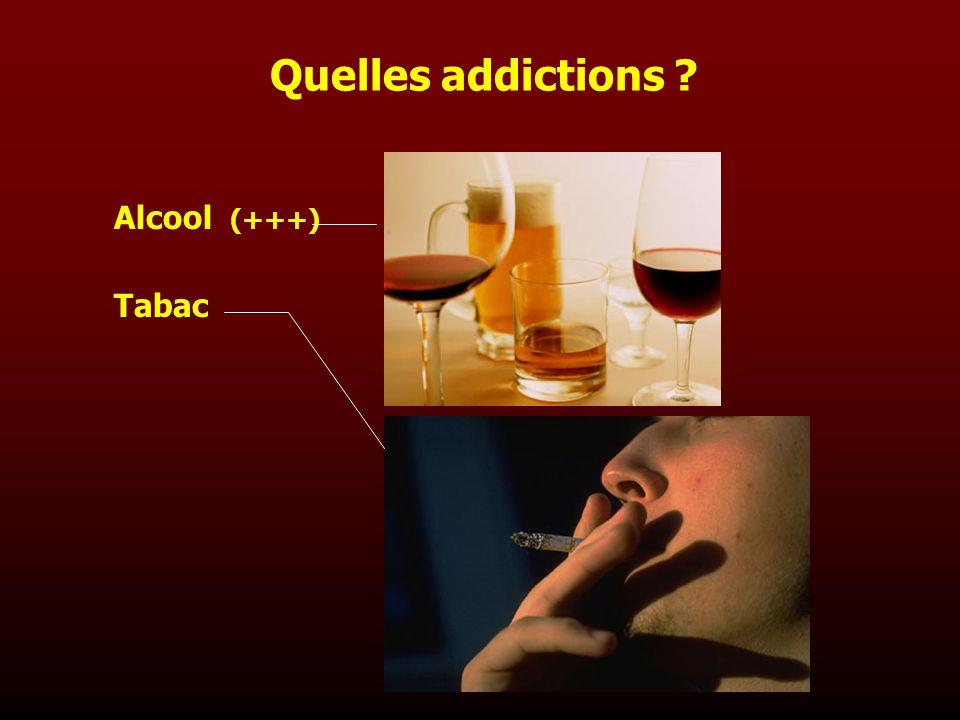 Alcool (+++) Tabac Quelles addictions ?